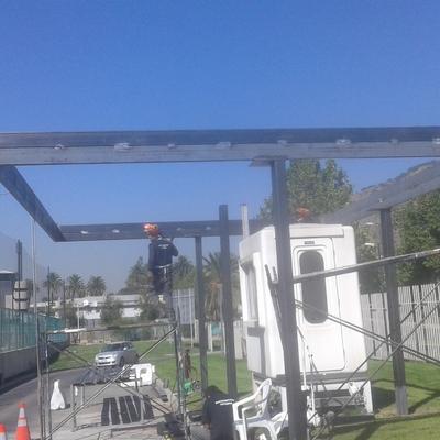 Techo Guardia Entrada Santiago College