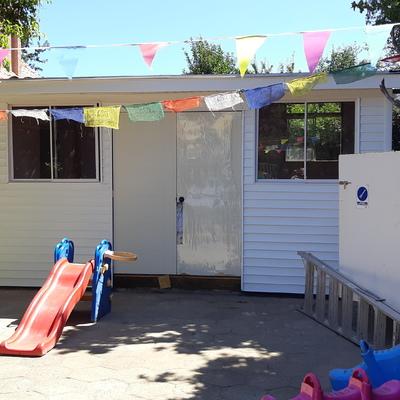 Ampliacion sala de juegos en Jardin Infantil