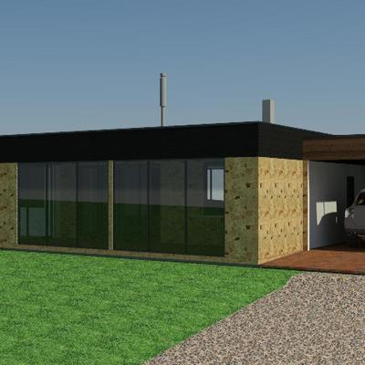 Diseño de Vivienda de140 m2  Reemplateo en terreno