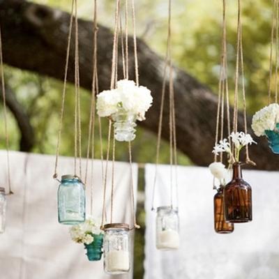 jarros de vidrio colgantes