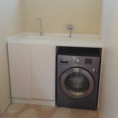 Lavadero construido para lavadora