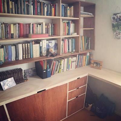 Escritorio y librería