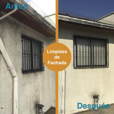 Limpieza de fachada, canaletas y terraza.