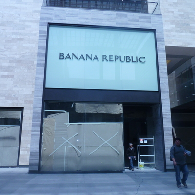 Estructura metálica Local Banana Republic Mall Casa Costanera