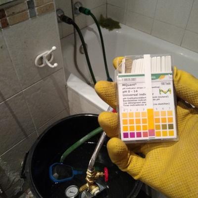 Limpieza de cañería circuito agua caliente