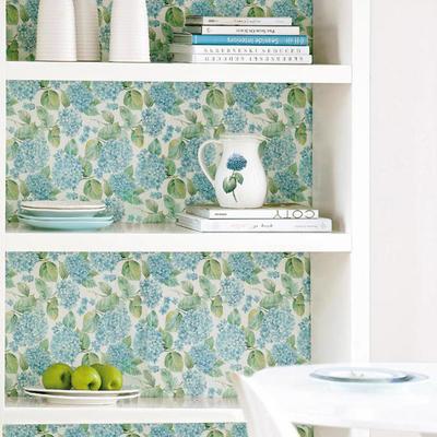 Mobiliario con papel pintado