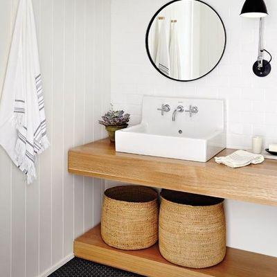 Baño remodelado con obra seca