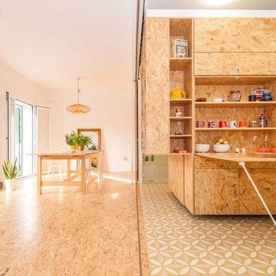 7 Ideas para introducir tableros de madera OSB en casa