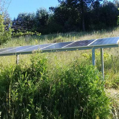 Alimentación con energía solar bomba PENTAX.
