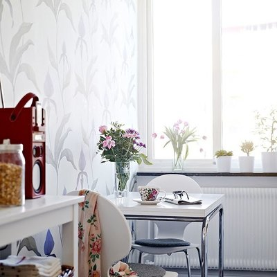 Papel mural en cocina