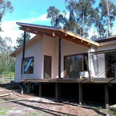 Casa de 100 mts2, construida en Parcela de Tunquen