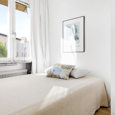 Un departamento de 35 m2 donde reinan los tonos claros