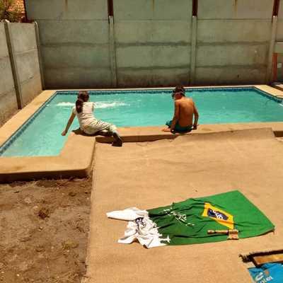 Piscina de 5x3 construida en Las Viscachas