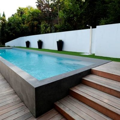 Piscina elevada rectangular
