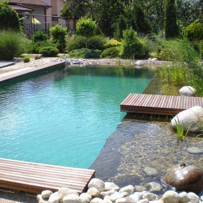 piscina natural en entorno ecológico