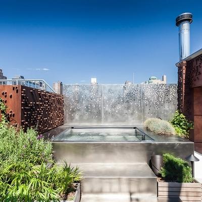 piscinas elevadas con chapa de acero