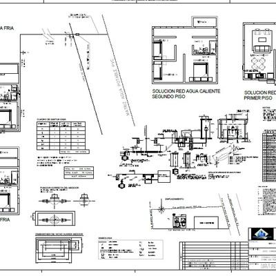 Proyecto Sanitario y Eléctrico Casa 110 m2
