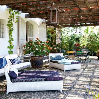 Hermoso patio en casa rural