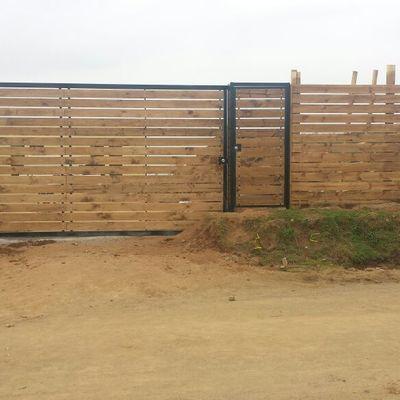 Portón Corredera Fierro/Madera