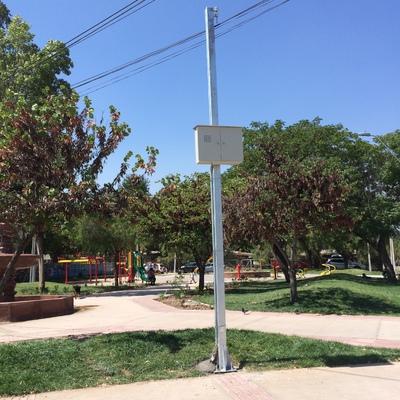 Poste empalme para Pileta de Agua Los Ararios, Municipalidad de la Florida