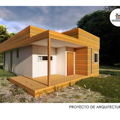 Proyecto de arquitectura  2019 Refugio a dos aguas de 59,32 m2
