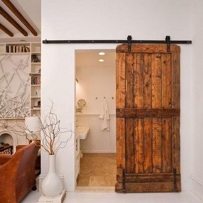 Puerta de madera corredera