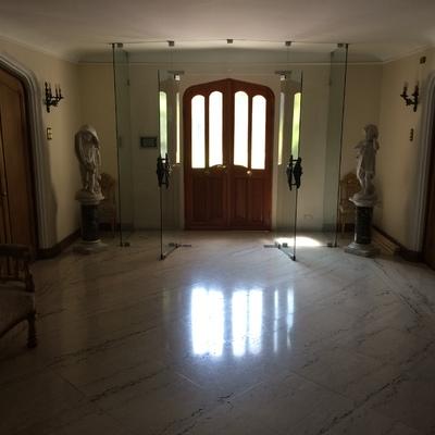 Puerta vidriada de pino oregón