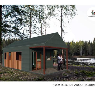 Proyecto de arquitectura  2019 - Refugio a dos aguas de 29,2 m2