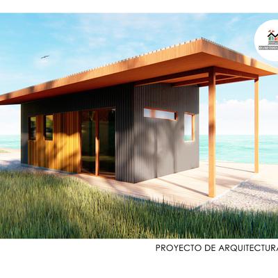 Proyecto de arquitectura - 2019 Refugio a dos aguas de 29,2 m2
