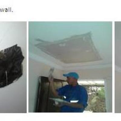 Restauración y pintura de techo.