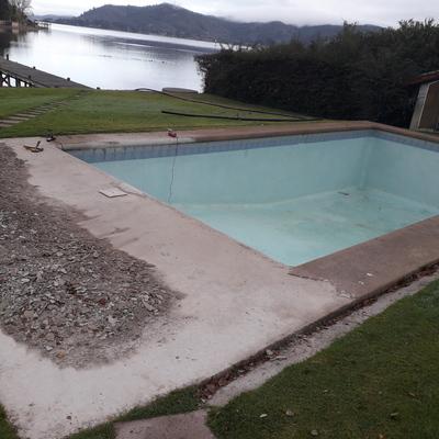 remodelación de borde de piscina