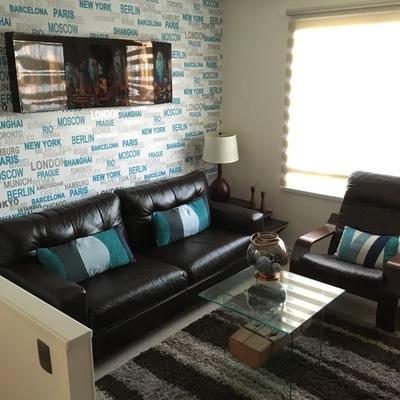 Sala de estar casa Barrio Inglés -Temuco