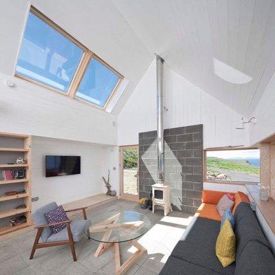 Living con claraboyas de techo
