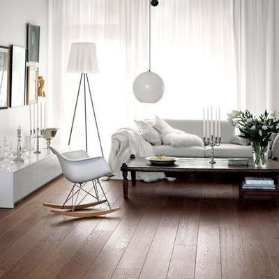 Living con piso laminado