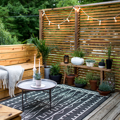 Deck en terraza