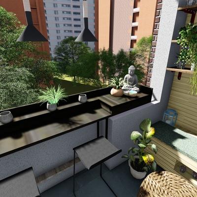 Diseño y decoración de Hall Estar Comedor y Terraza