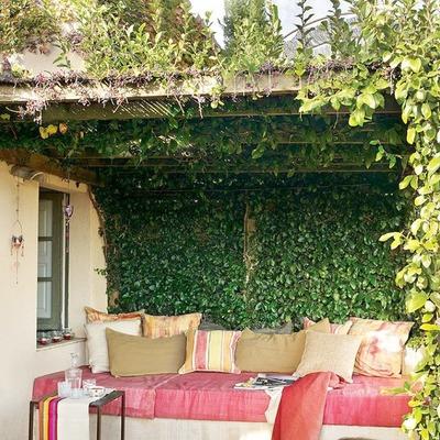 terraza con pérgola
