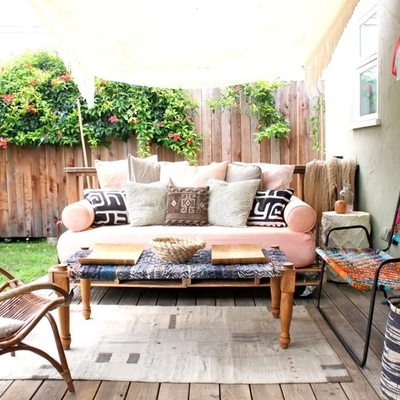 Terraza con tarima madera