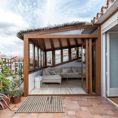 terraza semicubierta