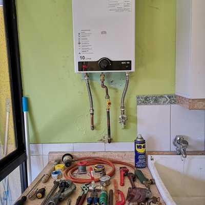 Solución baja presión de agua calefón 10 Lts