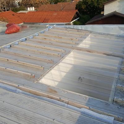 Remodelación de tragaluz en techumbre