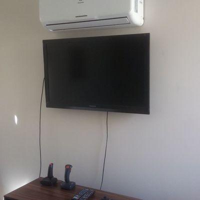 Instalacion equipos condominio Los Abedules, Chicureo casa 7