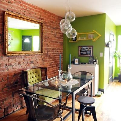verde y madera
