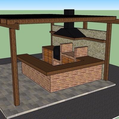 Diseño quincho casa Ñuñoa