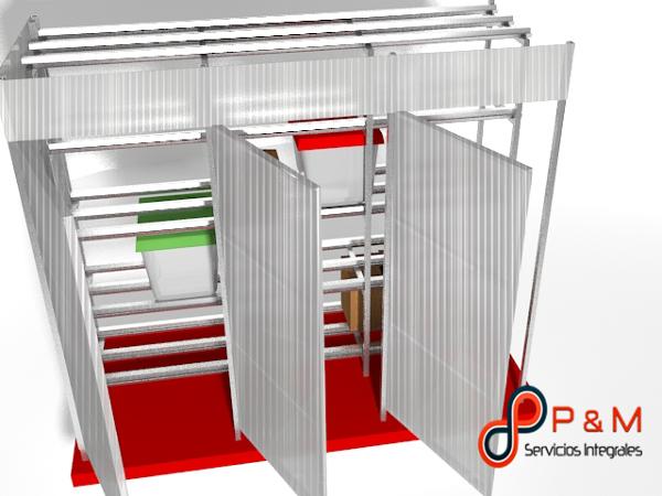 Foto bodega de estructura met lica y cubierta policarbonato total mente lavable de p m - Estructura metalica cubierta ...