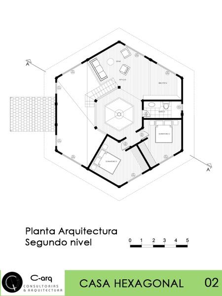 casas con diseno hexagonal