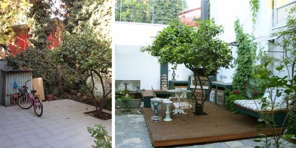 Foto jard n antes y despu s de raffo richter for Como disenar jardines exteriores