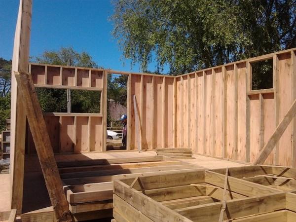Foto paneles madera de ia arquitectura construccion - Paneles madera jardin ...