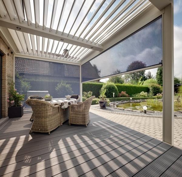 Foto p rgolas bioclim ticas contra el viento 109883 for Tende casa minimalista