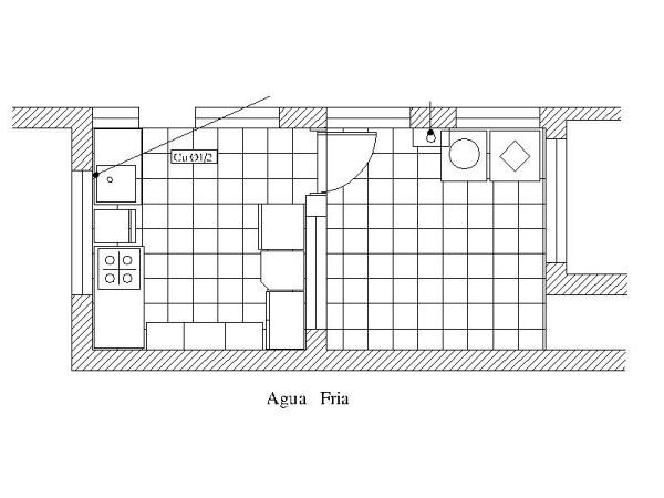 Foto plano de agua fria de servicios generales valdes for Plano de cocina fria
